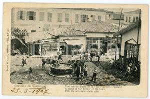 1900 ca SALONIQUE (GRÈCE) Rue du centre de la Ville - Carte postale FP VG