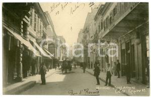 1918 ATHENS (GREECE) People on Hermes Street - Postcard FP NV