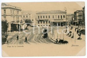 1900 ca ATHENES (GRÈCE) Place de la Concorde - Carte postale FP NV