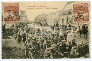1915 WW1 - SALONIQUE (GRÈCE) Entrée de l'Armée Hellènique - Carte postale FP NV