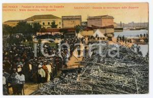 1910 ca SALONIQUE (GRÈCE) Pendant le démontage du ZEPPELIN - Carte postale