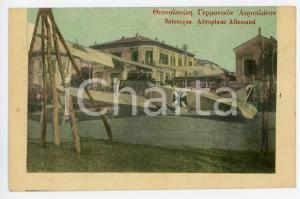 1916 WW1 - SALONIQUE (GRÈCE) Aéroplane allemand - Carte postale FP NV