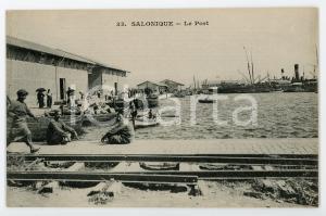 1900 ca SALONIQUE (GRÈCE) Le port - Carte postale FP NV