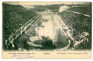 1906 ATHÈNES (GRÈCE) Jeux Olympiques - Le stade - Carte postale FP VG