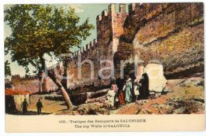 1915 ca SALONIQUE (GRÈCE) Vestiges des remparts - Carte postale FP NV