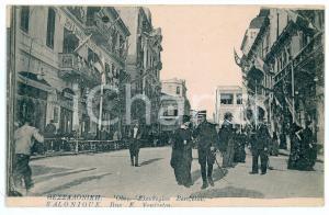 1916 SALONIQUE (GRÈCE) Rue E. Venizelos - Carte postale FP NV
