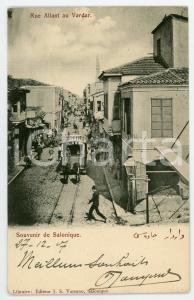 1908 SALONIQUE Rue Allant au Vardar - Postcard FP VG