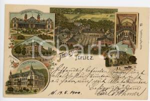 1900 TEPLICZ - TRENCSEN (HUNGARY) Gyogyterem  ILLUSTRATED Postcard FP VG