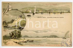 1900 ca HUNGARY Lake Balaton - Shore of ZALA - ILLUSTRATED Postcard FP NV