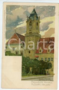 1921 POSZONY - PRESSBURG (HUNGARY) Rathaus - Illustrated by Raoul FRANK Postcard