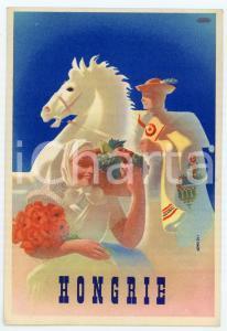 1941 VISIT LA HONGRIE Artist György KONECSNI - ILLUSTRATED Postcard FP VG