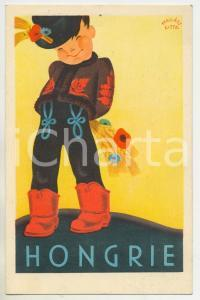 1930 ca HONGRIE Artist Gitta MALLASZ - ILLUSTRATED Postcard FP NV