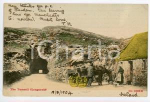 1904 GLENGARRIFF, CORK (IRELAND) Tunnel - Horse drinking - Postcard FP VG