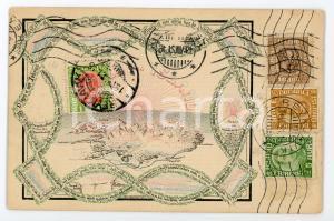 1921 ICELAND Frimerki Island ILLUSTRATED Postcard FP VG