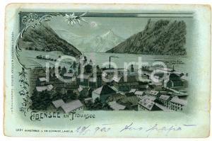 1900 EBENSEE AM TRAUNSEE (OSTERREICH) Landscape ILLUSTRATED Postcard FP VG