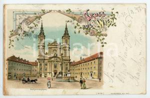 1897 WIEN (OSTERREICH) Piaristenkirche Maria Treu ILLUSTRATED Postcard FP VG