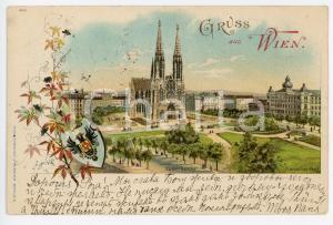 1897 WIEN (OSTERREICH) Votivkirche ILLUSTRATED Postcard FP VG