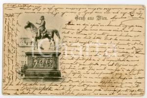 1898 WIEN (OSTERREICH) Radetzky-denkmal - Josef Radetzky statue - Postcard FP VG