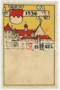 1900 ca WIEN Anno Domini 1536 Landhaus ILLUSTRATED Postcard FP NV