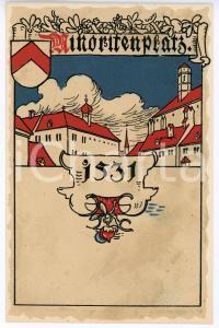 1900 ca WIEN Anno Domini 1531 Minoritenplatz ILLUSTRATED Postcard FP NV