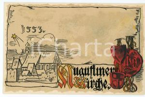 1900 ca WIEN Anno Domini 1553 Augustinerkirche ILLUSTRATED Postcard FP NV