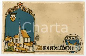 1900 ca WIEN Anno Domini 1569 Minoritenkloster ILLUSTRATED Postcard FP NV