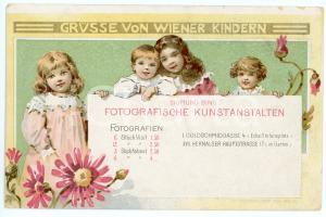 1900 ca WIEN Sigmund BING Fotografische Kunstanstalten - Vintage postcard