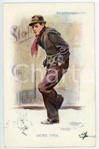 1901 WIEN - WIENER TYPE Ein unterstandsloser - Postcard FP VG