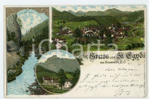 1896 ST. AEGYD AM NEUWALDE (OSTERREICH) In der Lurg ILLUSTRATED Postcard FP VG