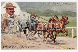 1920 ca HORSE Artist Ludwig KOCH - Ludwig Kurz 816 - ILLUSTRATED Postcard