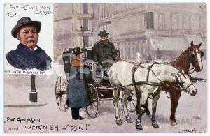 1920 ca HORSE Artist Ludwig KOCH Der alteste vom graben - ILLUSTRATED Postcard