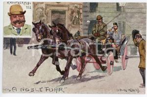1920 ca HORSE Artist Ludwig KOCH Kreutzerpepi 111 - ILLUSTRATED Postcard