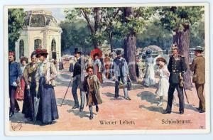 1920 ca WIEN - WIENER LEBEN Schonbrunn - Sunday at the park - Postcard FP NV