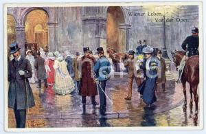 1920 ca WIEN - WIENER LEBEN Vor der Oper. - Night at the Opera - Postcard FP NV