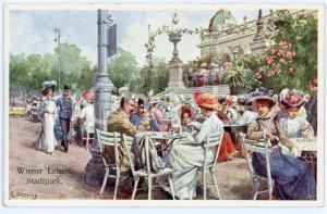 1920 ca WIEN - WIENER LEBEN Stadtpark - Afternoon at the Park - Postcard FP NV