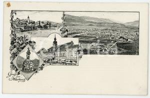 1900 ca MARBURG (DEUTSCHLAND) Views of the city ILLUSTRATED Postcard FP NV