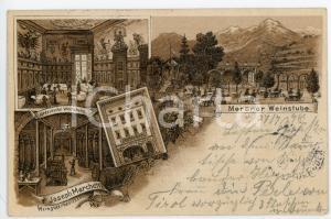 1898 MERANO Meraner weinstube - Joseph Marchetti, Altdeutsche - Postcard FP VG