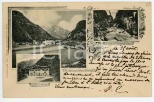 1901 WEISSBACH BEI LOFER (OSTERREICH) Gasthof zum Auvogel - Postcard FP VG