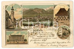 1898 HALL IN TIROL (OSTERREICH) Stadtplatz - Rathhaus ILLUSTRATED Postcard FP VG