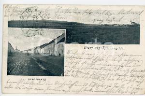 1899 CERNOSIN - TSCHERNOSCHIN (CZECH) Stadtplatz - Postcard FP VG