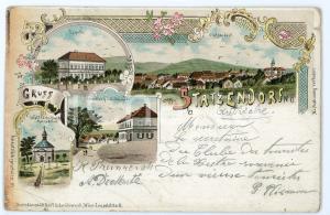 1899 STATZENDORF (OSTERREICH) Wallfahrtskapelle Maria Elend ILLUSTRATED Postcard
