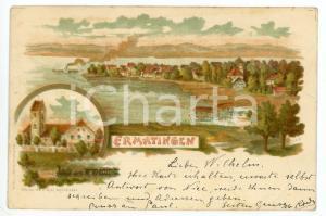 1903 ERMATINGEN (SCHWEIZ) Kanton Thurgau ILLUSTRATED Postcard FP VG