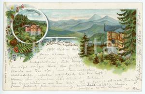 1899 KUNDRATICE - KUNDRATITZ Henriettenruhe ILLUSTRATED Postcard FP VG