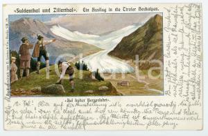 1902 TIROL Suldental und Zillertal - Tiroler Hochalpen ILLUSTRATED Postcard FP