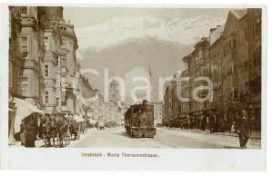 1900 ca INNSBRUCK (OSTERREICH) Train in Maria Theresienstrasse - Postcard FP NV