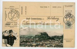 1910 ca SALZBURG (OSTERREICH) Panorama - Cartolina pre-affrancata FP NV