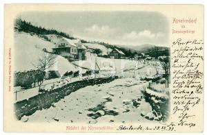 1899 JAGNIATKOW Agnetendorf im Riesengebirge - Hörnerschlitten - Postcard FP VG