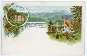 1899 KUNDRATICE - KUNDRATITZ Henriettenruhe ILLUSTRATED Postcard FP NV