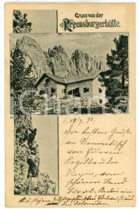 1898 SANTA CRISTINA VALGARDENA Rifugio Firenze - Regensburgerhütte - Postcard