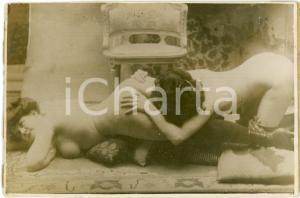1920 ca VINTAGE EROTIC Lesbian couple - Oral sex (1) RARE PORN Photo 14x10 cm